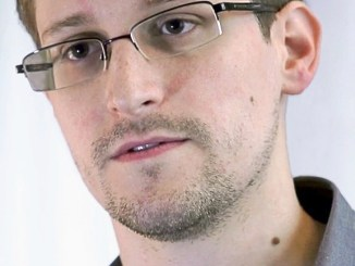 Screenshot of Edward Snowden from Praxis Film's Prism