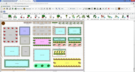 Here's the planner interface. This represents my Fenced Backyard Garden as of July 2015.