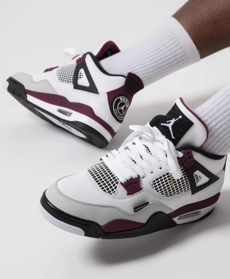 "On-Foot Look At The Air Jordan 4 Retro ""PSG"" | The Sneaker ..."