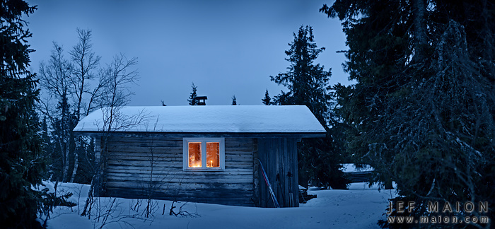 Mountain hut by photographer Jef Maion