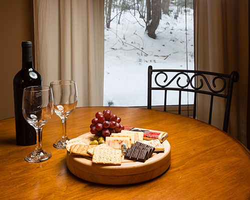 Wine, Cheese & Chocolate | Snow Goose Bed and Breakfast, Keene Valley, NY