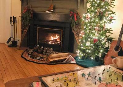 Fireplace | Snow Goose B&B, Adirondacks, NY