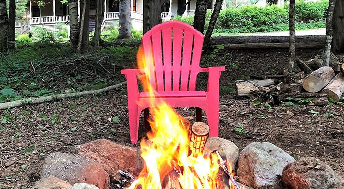 Firepit | Snow Goose B&B, Adirondacks, NY