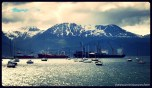 Peaceful sunrays, Ushuaia Bay