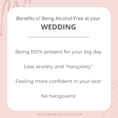 sober wedding