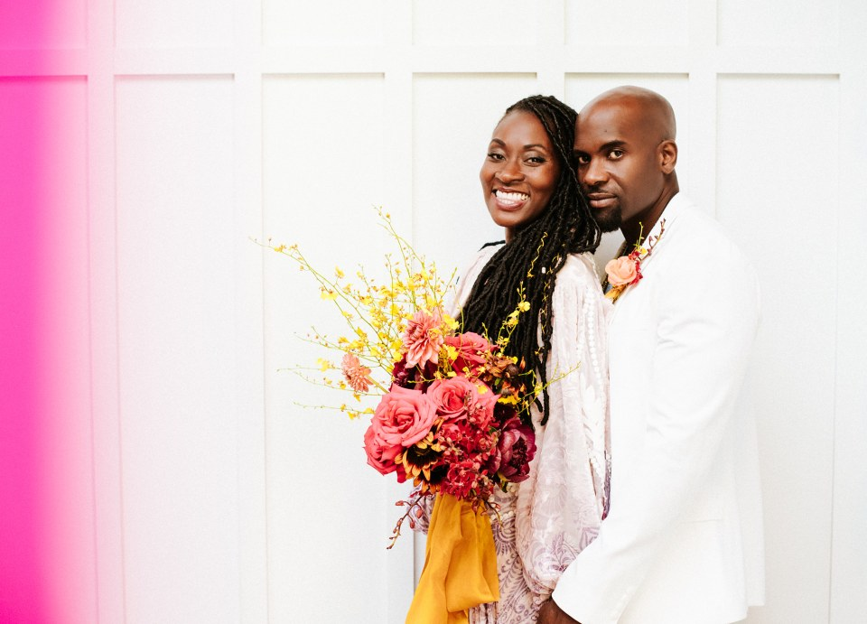 Black couple's elopement photographed by black wedding photographer The SoCal Standard