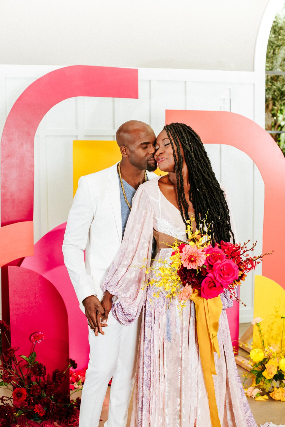 Black love at a rainbow elopement ceremony in San Diego