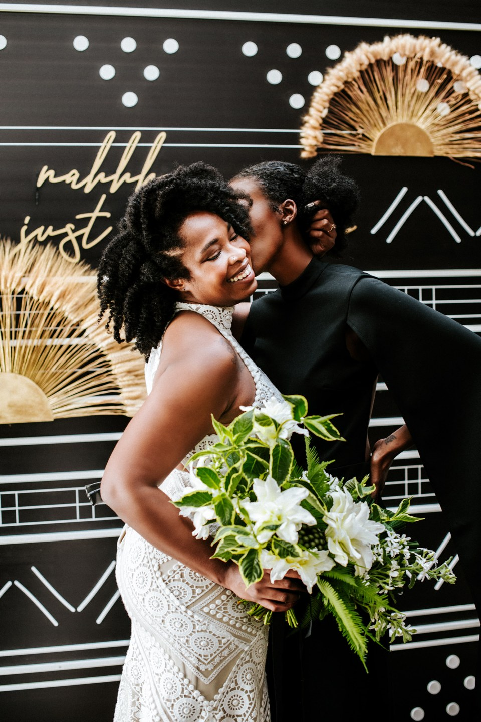 Black gay couple at their San Diego elopement photoshoot
