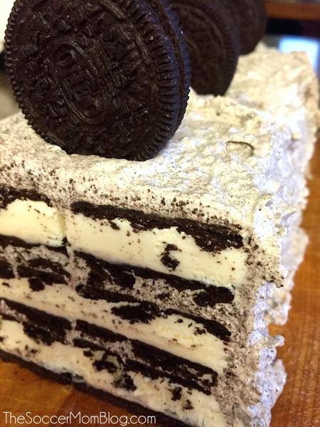 Easy 3-Ingredient Cookies & Cream Ice Cream Cake