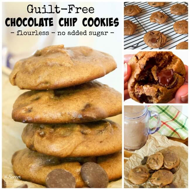 These soft batch almond butter chocolate chip cookies are gluten free, but taste so decadent you'll never know they're healthy!