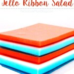 Red White & Blue Jello Ribbon Salad