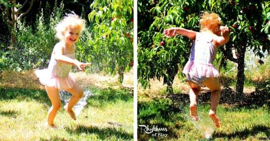 Water-wise sprinkler play
