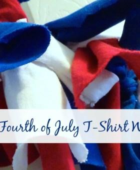 DIY T-Shirt Fourth of July Wreath