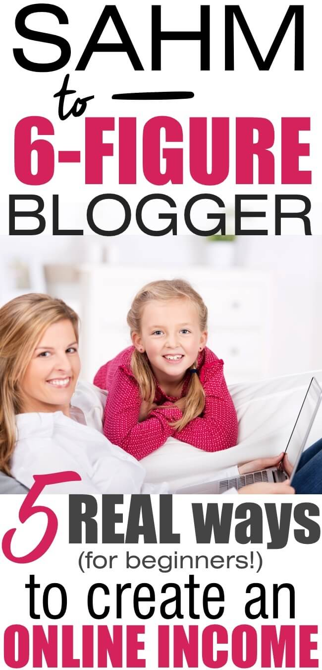 Make money blogging - The 5 simple strategies I used to make my first $500 in a month...and still use to make up to $10,000+ in a month blogging!