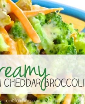 Creamy Bacon Cheddar Broccoli Salad