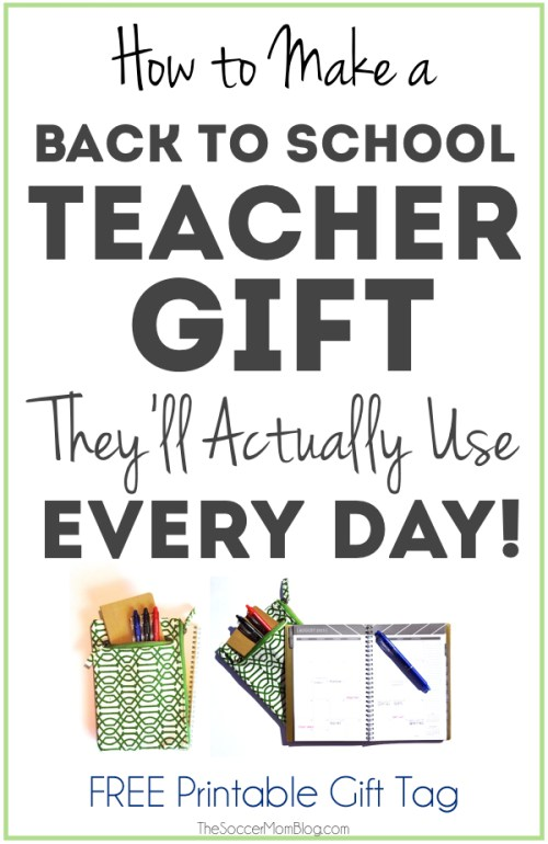 Give your favorite new teacher a gift they'll love and use every day with this DIY ultimate planner! Easy photo tutorial and FREE Printable gift tag! #EraseStress #ad
