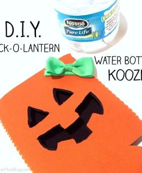 D.I.Y. Water Bottle Halloween Koozie Tutorial