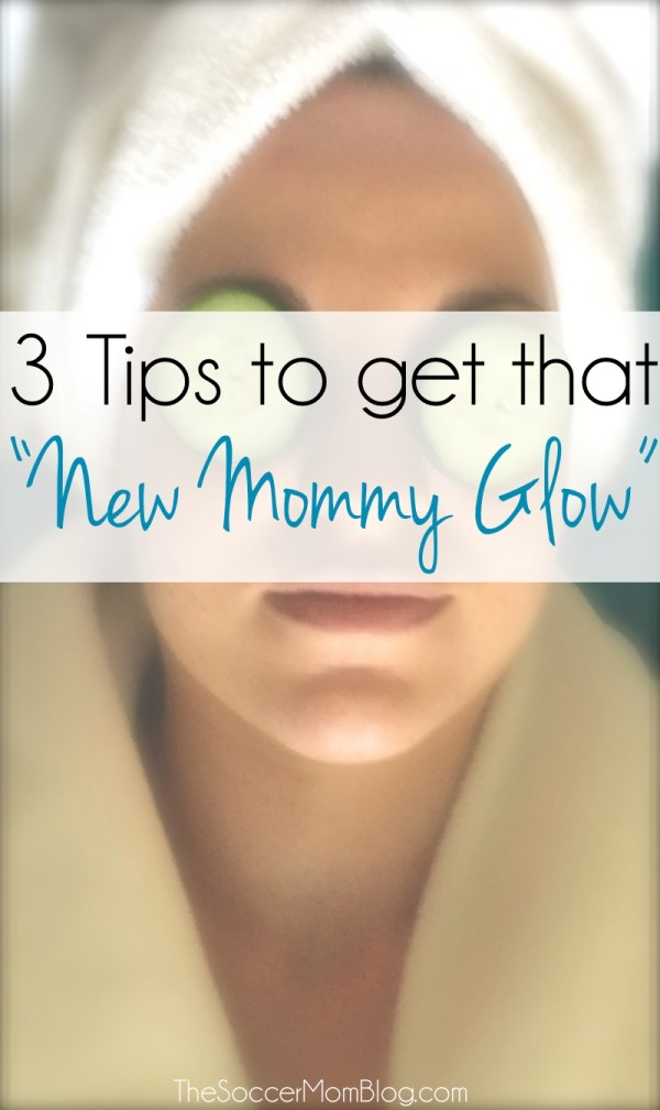 """Postpartum hormones, breastfeeding, and lack of sleep means your skin needs extra TLC! Try these tips to get that """"new mommy glow."""" #ApplyBeforeYouDry ad"""