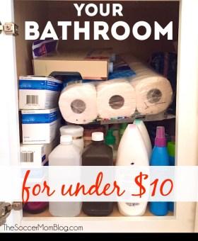 Easy Bathroom Organization Hacks — ALL for Under $10!