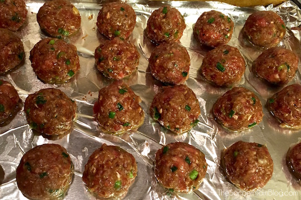 "You've never had a meatball like these! This Bulgogi Meatball recipe is a deliciously sweet and savory spin on a traditional Korean favorite. (The ""secret"" ingredient MAKES them!)"