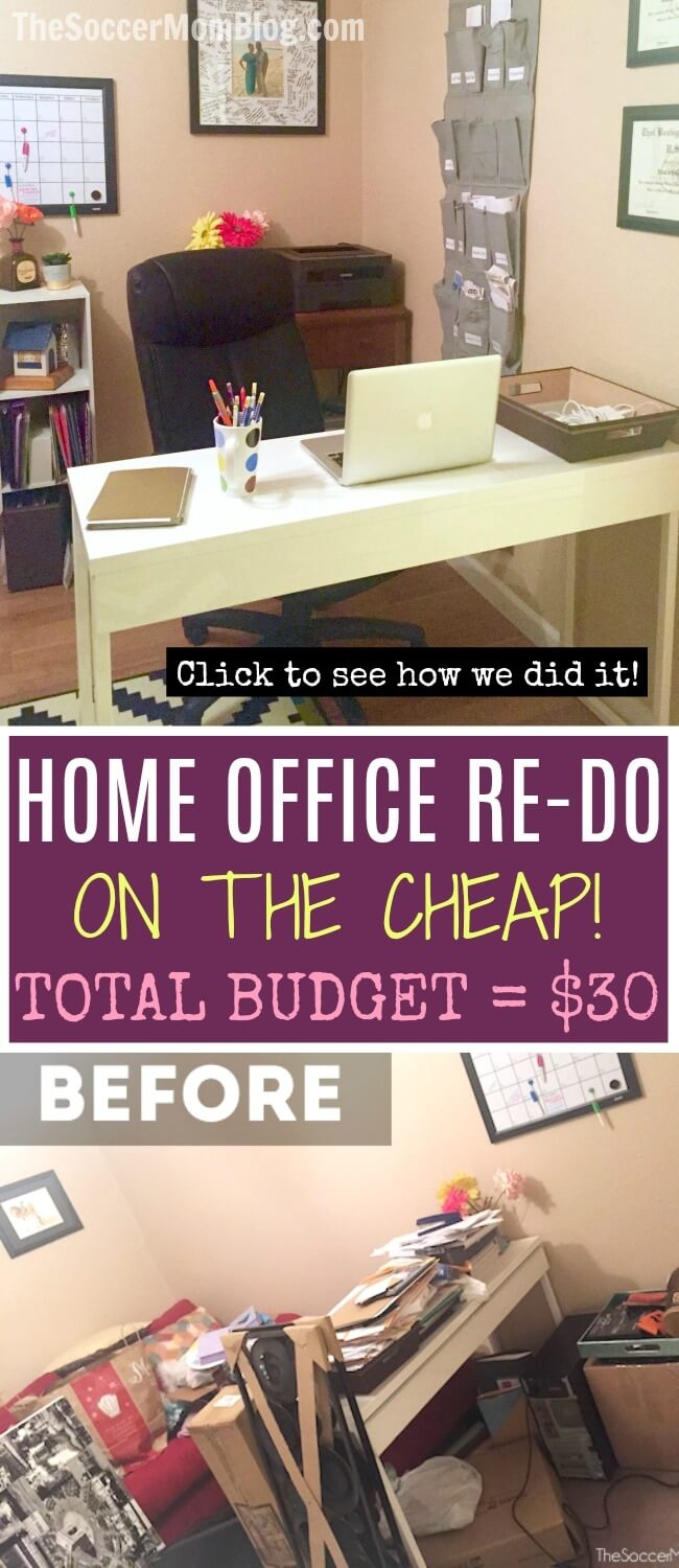 home office on a budget. Home Office Organization On The Cheap \u2014 Under $30! A Budget D