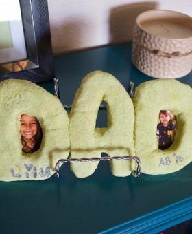 """DAD"" Salt Dough Picture Frame"
