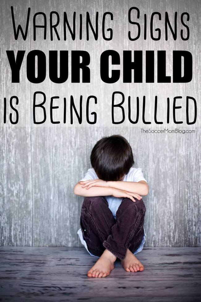 Would you be able to tell if your child was in trouble? How to recognize the signs of bullying and what to do if you think it's happening to YOUR child. TheSoccerMomBlog.com