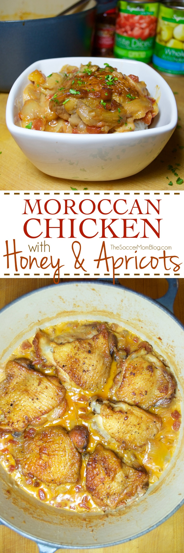 Rich Moroccan Chicken stew is the perfect mix of sweet, savory, & spicy! Recreate a favorite traditional dinner at home with this surprisingly easy recipe.
