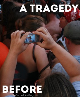 When We Film a Tragedy Before Helping