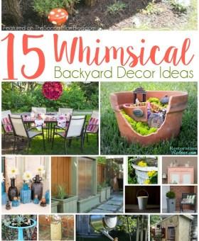 15 Whimsical Backyard Decor Ideas