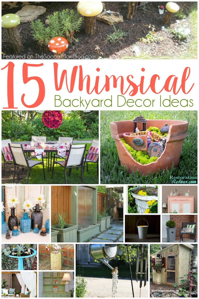 An inspiring (and do-able) wish-list of the most gorgeous whimsical backyard decor ideas from some of the most talented home and garden bloggers on the web.