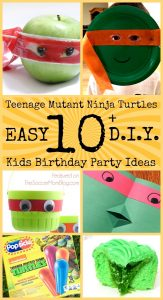 Everything you need for the perfect DIY Teenage Mutant Ninja Turtles Birthday Party! 10+ ideas easy enough for kids to make: crafts, snacks, treats, & games