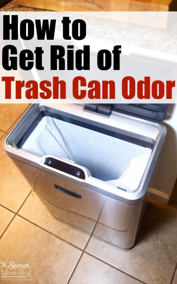 Get rid of yucky smells in your kitchen (and keep them out!) once and for all with these 4 simple ways to deodorize kitchen garbage cans!