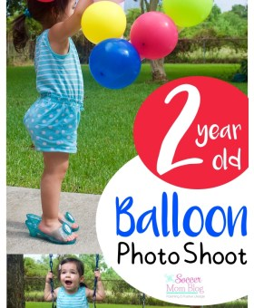Easy DIY Balloon Themed Two Year Old Photos