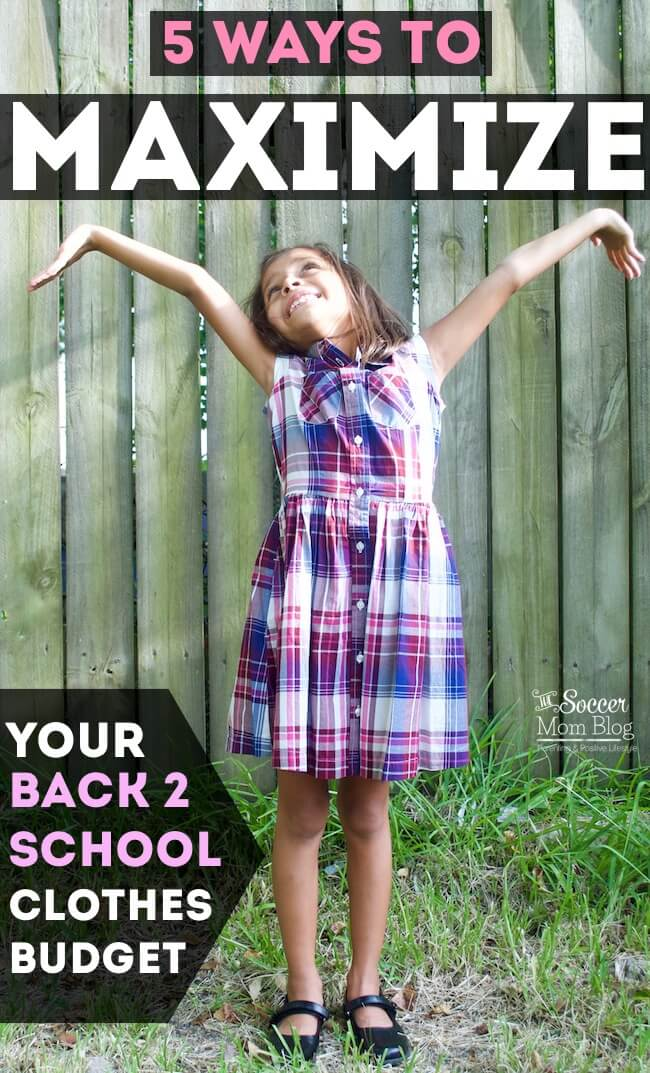 Fall clothing shopping for the kids doesn't have to break the bank! These 5 simple tips will help you get the most for your back to school clothes budget.