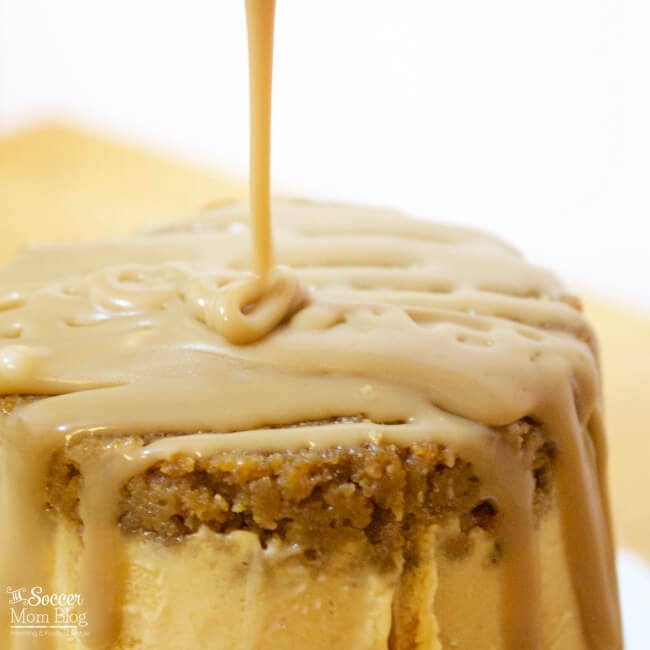This Pumpkin Spice Ice Cream Cake is practically foolproof — you make it right in the carton! The perfect unique and EASY Thanksgiving dessert!
