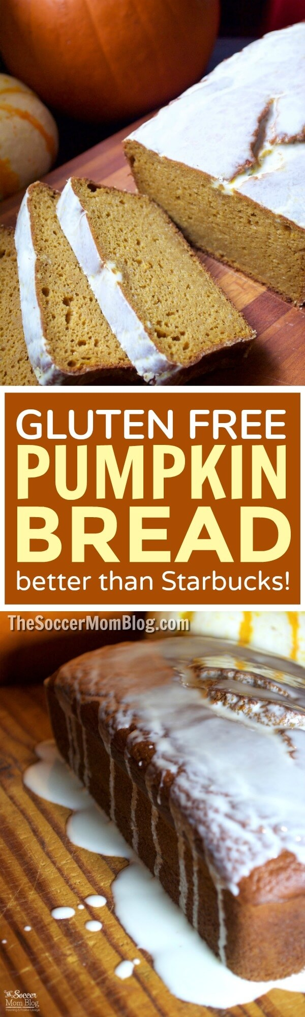 A guilt-free spin on a fall favorite baked treat— this Gluten Free Pumpkin Bread is EVERYTHING! (Even better than Starbucks pumpkin loaf!)