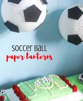 """DIY """"Floating"""" Soccer Paper Lanterns"""