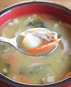 Immunity Boosting Garlic Chicken Miso Soup