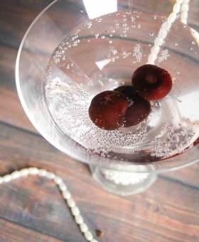 Sparkling Black Cherry Martini