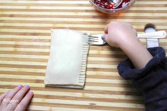 Making homemade pop tarts