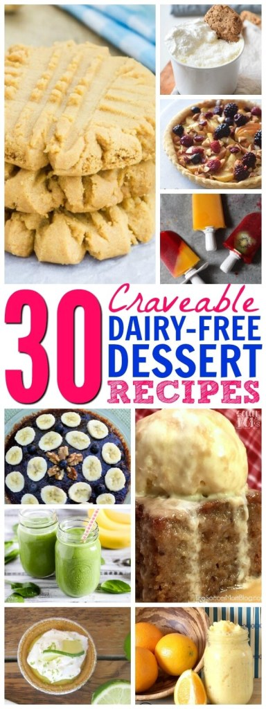 "Who says a dairy free diet has to be boring?! You'll LOVE this collection of 30 of the BEST Non Dairy Desserts even more delicious than the ""real"" thing!"