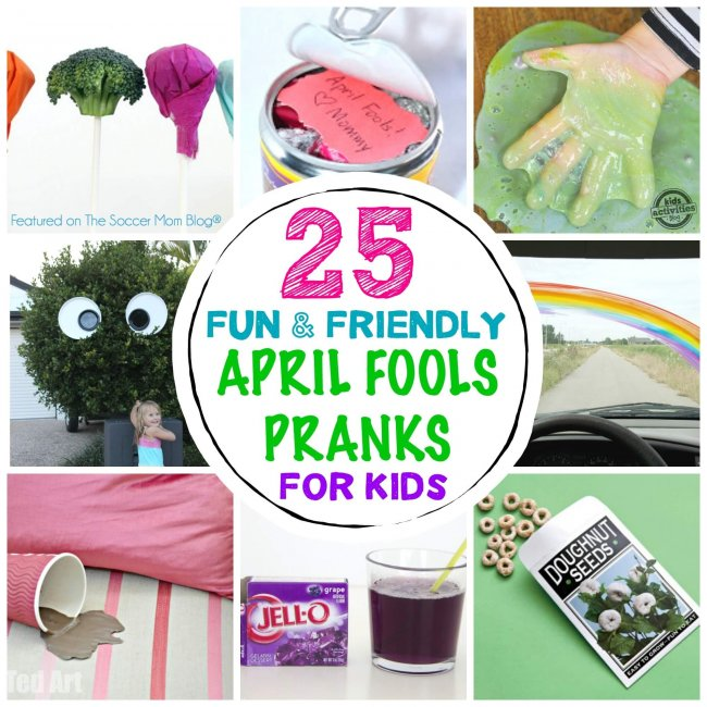 April Fools Jokes for Kids Collage