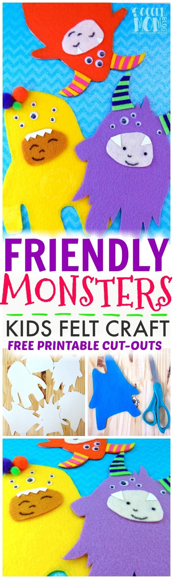 "These colorful felt craft ""friendly monsters"" put a new spin on paper dolls! So much fun for kids to make and play with over and over again!"