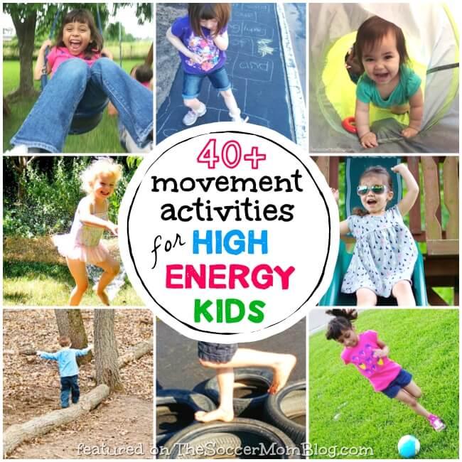 Kids Movement Activities Collage