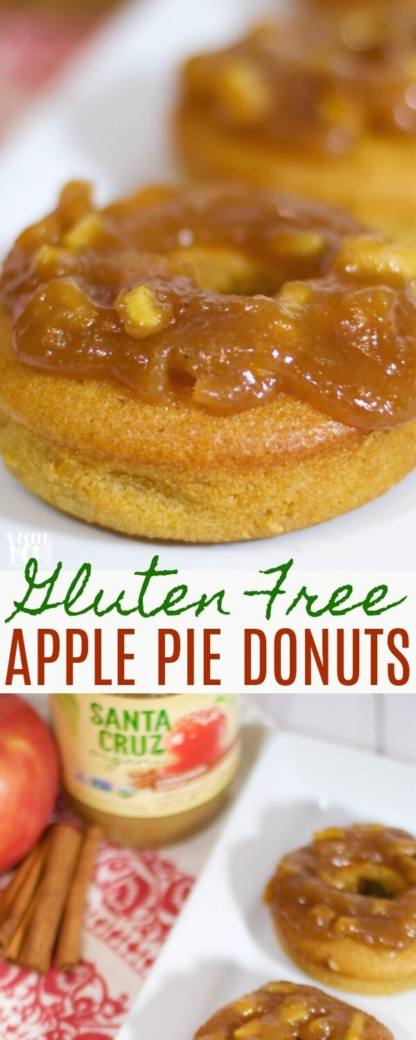 """You'll never guess the """"secret"""" ingredient in these delicious Gluten FreeApple Pie Donuts! Believe it or not, they provide a full serving of fruits & veggies, but they taste like a decadent dessert!"""