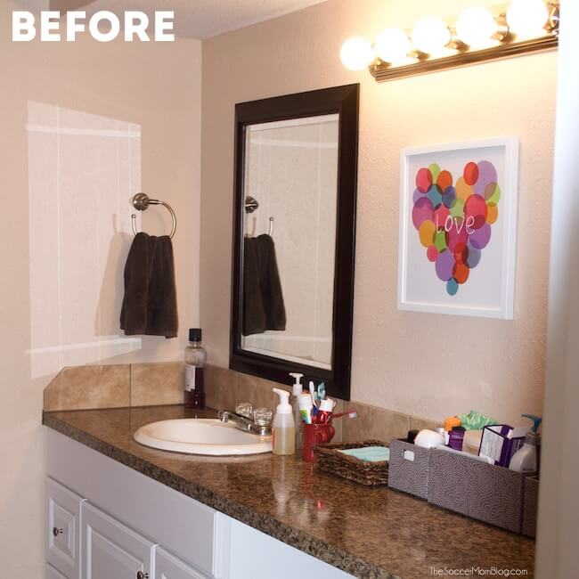 Beautiful Bathroom Update in a Day The Soccer Mom Blog