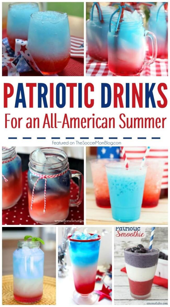 A collection of 20+ Red White and Blue drink recipes perfect for your Memorial Day or 4th of July party. Can be made for kids or grown-ups!