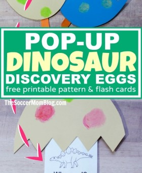 Pop-Up Kids Dinosaur Discovery Eggs (with FREE Flashcards!)