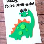 """Dino-Mite"" Homemade Father's Day Card"